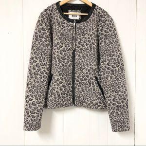 Vera Moda Grey Leopard Print Blazer/ Jacket NWT
